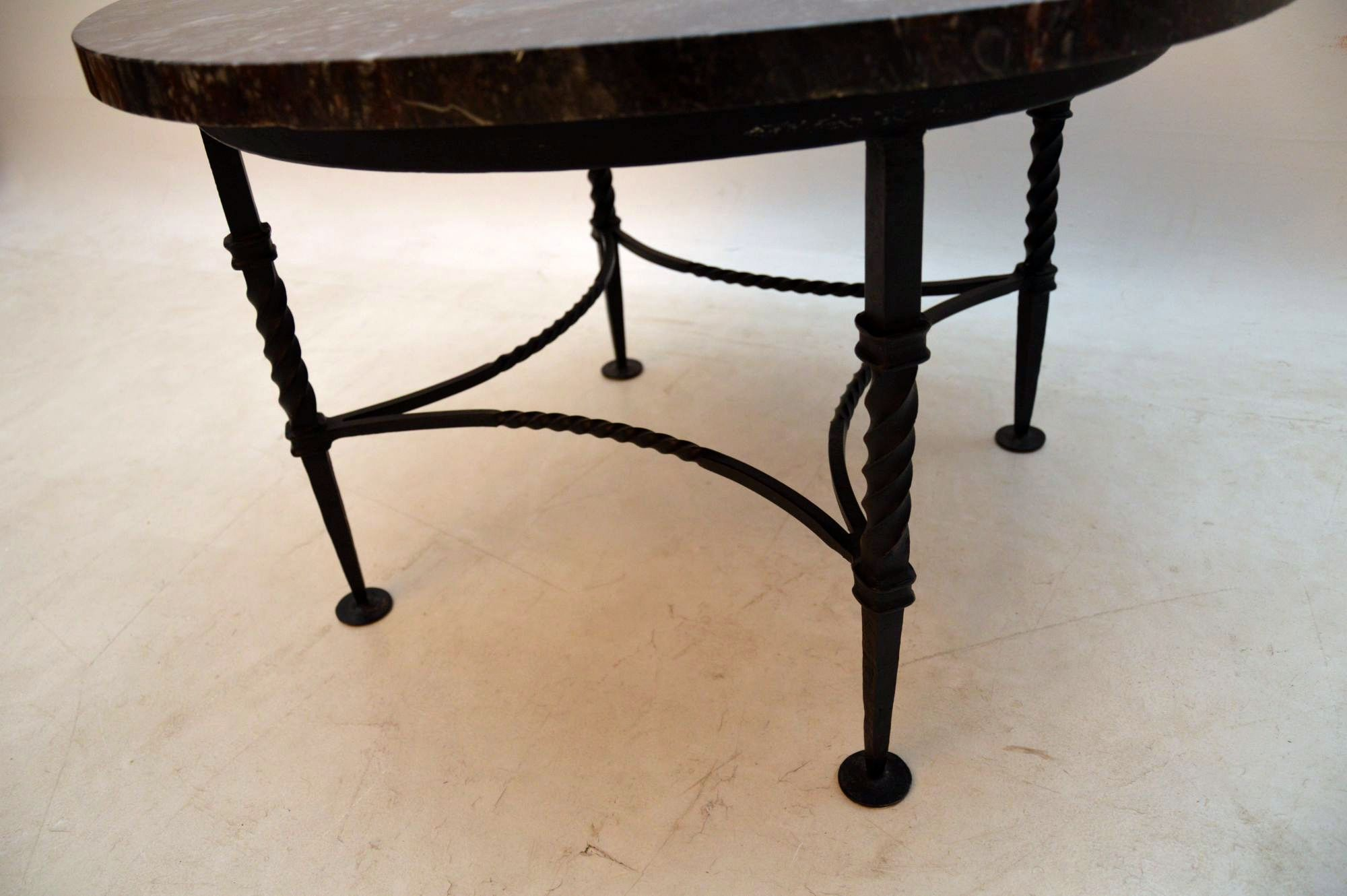 1950 S Vintage Marble Amp Wrought Iron Coffee Table