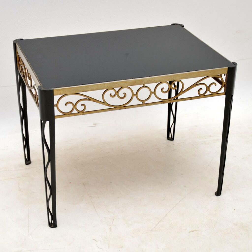 vintage retro brass coffee table side table