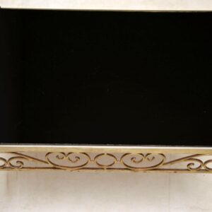 1970's Vintage Side Table in Brass, Steel & Formica
