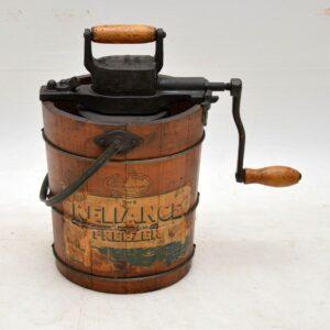 antique ice cream churner
