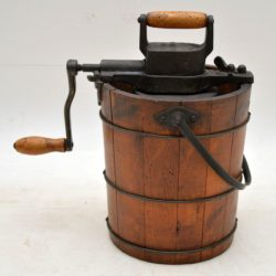 antique ice cream churner