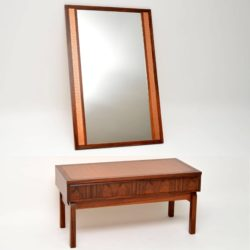 1960's Danish Rosewood & Copper Side Table & Mirror