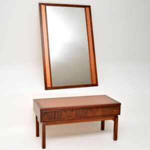 danish rosewood copper mirror table