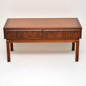 danish rosewood copper mirror hall table