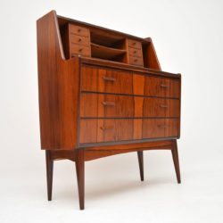 1960's Danish Vintage Rosewood Writing Bureau