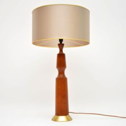 1960's Danish Vintage Teak Table Lamp