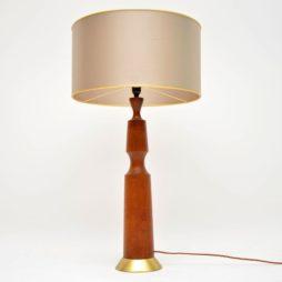 danish teak vintage lamp