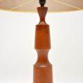 1960's Danish Vintage Teak Table Lamp