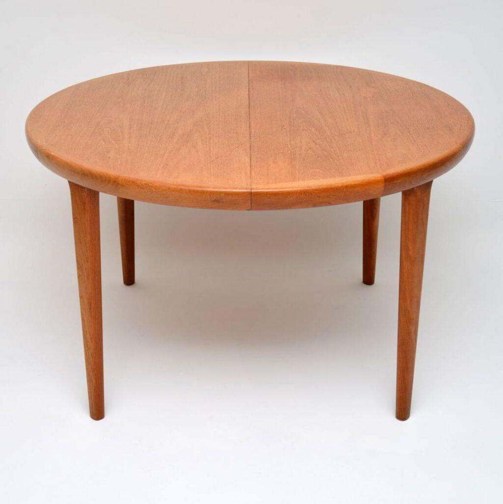 danish teak vintage extending dining table