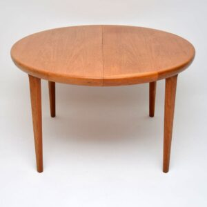 danish teak vintage extending dining table