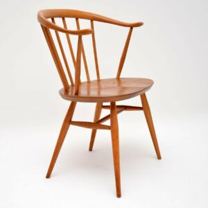 1960's Pair of Vintage Cowhorn Armchairs by Ercol