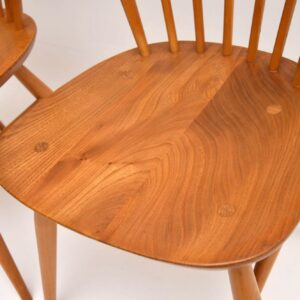 1960's Pair of Solid Elm Vintage Ercol Dining / Side Chairs