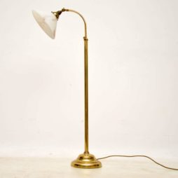 retro brass and glass vintage lamp
