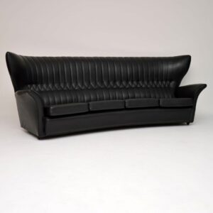 vintage retro wing back sofa by g plan