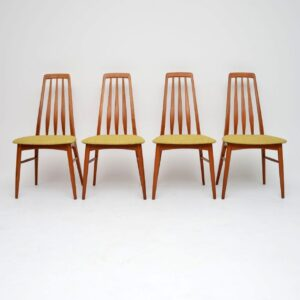 1960's Set of Four Danish Teak Dining Chairs by Niels Koefoed