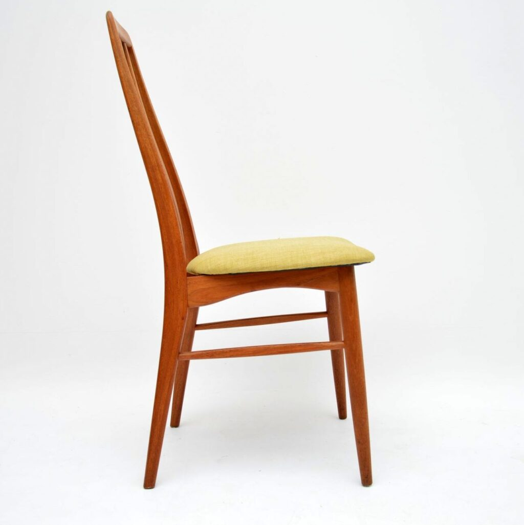danish teak vintage dining chairs niels koefoed