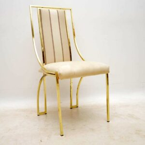 set of ten vintage italian brass dining chairs by zevi