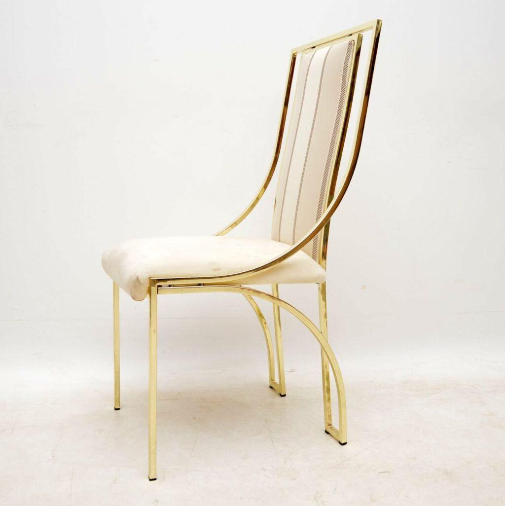 set of ten vintage italian brass dining chairs by zevi