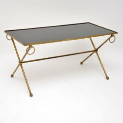 1950's Vintage Brass & Glass Coffee Table