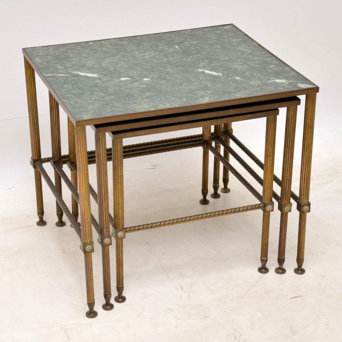 Br Faux Marble Nest Of Tables Vintage 1950 S
