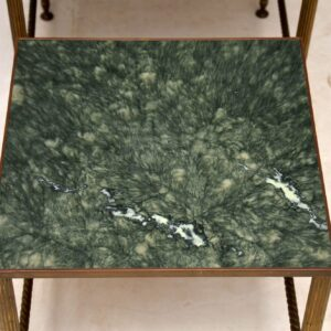 vintage brass marble nest of tables