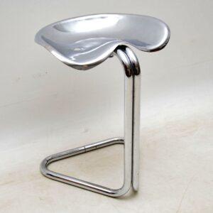 retro vintage chrome steel tractor stool rodney kinsman omk