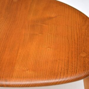 1960's Vintage Ercol Solid Elm Pebble Nest of Tables