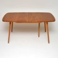 1960's Vintage Ercol Grand Windsor Dining Table in Solid Elm