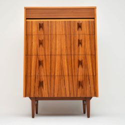vintage retro rosewood chest of drawers