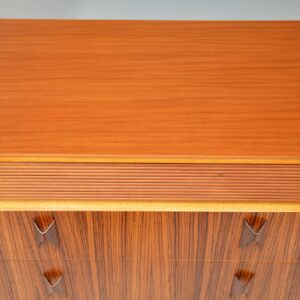 1960's Vintage Walnut, Zebrano & Rosewood Chest of Drawers by Eon