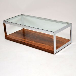 merrow associates richard young rosewood chrome coffee table