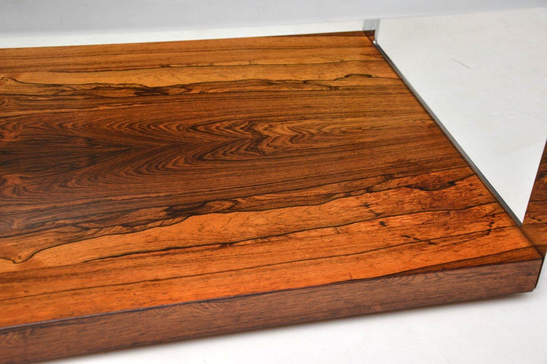 merrow associates richard young rosewood chrome coffee table