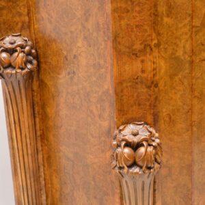 art deco burr walnut epstein cocktail cabinet