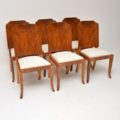1920's Original Art Deco Walnut Dining Table & Chairs