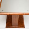 1920's Art Deco Mirrored Walnut Coffee Table
