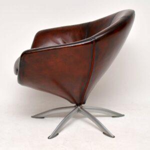 danish leather vintage retro armchair