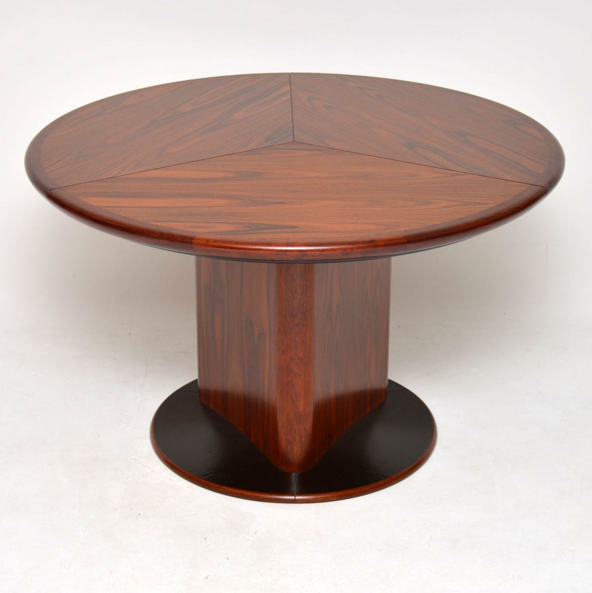 danish rosewood extending dining table by skoovby