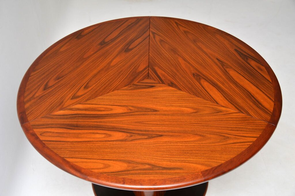 danish rosewood extending dining table by skovby