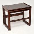 1960's Vintage Danish Rosewood Nest of Tables by Arne Hovmand-Olsen for Mogens Kold