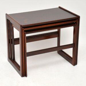 danish rosewood vintage nest of tables by arne hovmand-olsen mogens kold