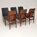 1960's Vintage Set of 6 Danish Rosewood Dining Chairs