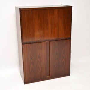 1970's Danish Rosewood Vintage Bureau Cabinet