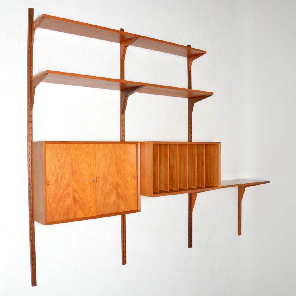 danish teak retro vintage royal shelving bookcase cado cadovius