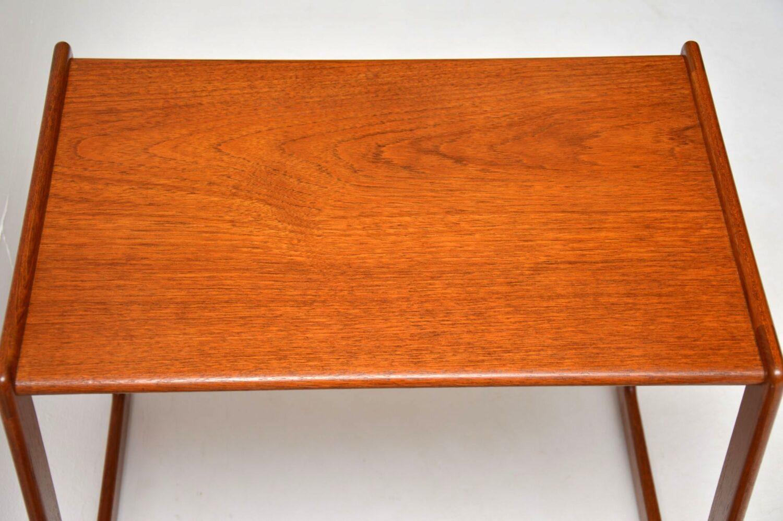 danish teak vintage nest of tables arne hovmand-olsen mogens kold