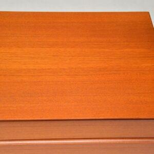 danish vintage retro teak chest of drawers