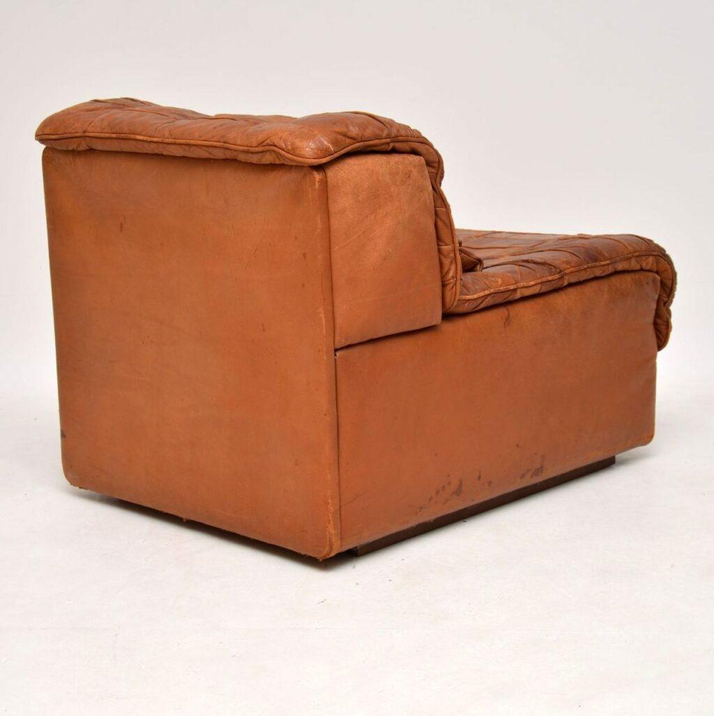 vintage retro leather modular sofa by de sede