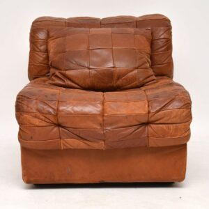 vintage retro leather modular sofa by de sede