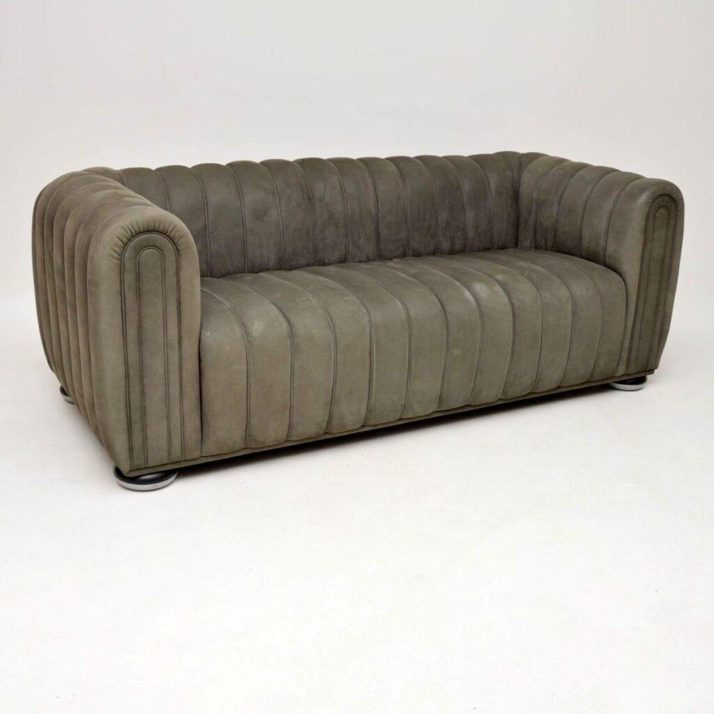 josef hoffmann wittman club 1910 leather sofa