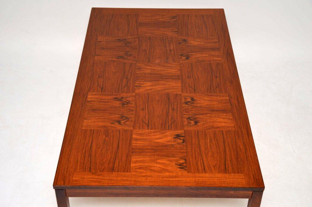 vintage retro rosewood danish coffee table