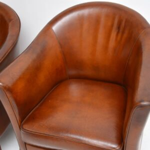 pair of danish leather armchairs by mogens hansen